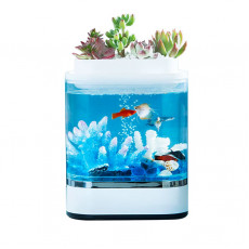 Акваферма Xiaomi Descriptive Geometry Amphibious Ecological Lazy Fish Tank Mini (HF-JHYG005)