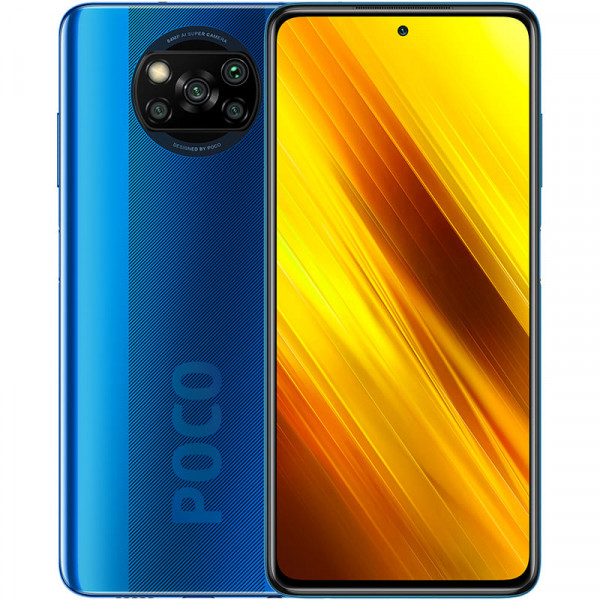 Смартфон Xiaomi Poco X3 NFC 6/64Gb Cobalt Blue / Синий (EU / Global Version)