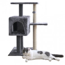 Дом для кошек с когтеточкой Xiaomi Mini Monstar Small Beast Star Three-Layer Multifunctional Cat Climbing Frame XS13-3001 Grey (3 этажа, Серый)