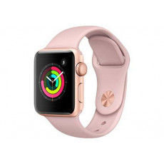 Часы Apple Watch Series 3 38mm Aluminum Case with Pink Sport Band