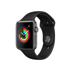 Часы Apple Watch Series 3 38mm Aluminum Case with Black Sport Band