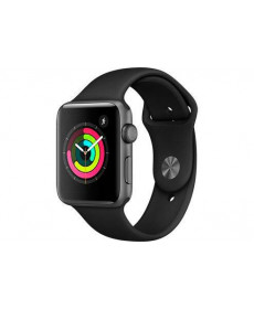 Часы Apple Watch Series 3 42mm Aluminum Case with Black Sport Band