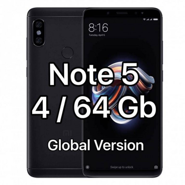 Xiaomi Redmi Note 5; 4Gb / 64Gb (Global Version) Black / Черный
