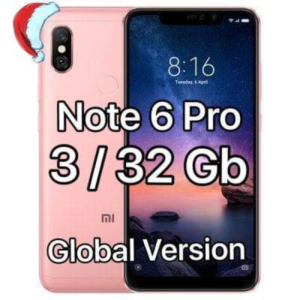 Xiaomi Redmi Note 6 Pro; 3Gb / 32Gb (Global Version) Rose Gold / Розовый: характеристики