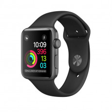 Часы Apple Watch Series 1 38mm Aluminum Space Grey Case with Black Sport Band