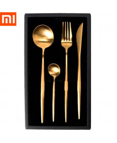 Набор столовых приборов Xiaomi Maison Maxx Stainless Steel Modern Flatware Set Gold (Золотой)