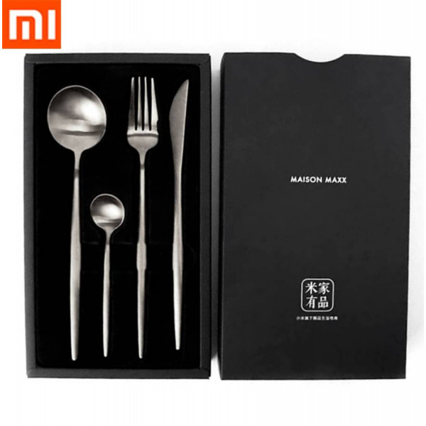 Набор столовых приборов Xiaomi Maison Maxx Stainless Steel Modern Flatware Set Black (Черный)