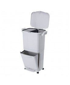 Умное мусорное ведро Xiaomi Nakko Household Double-Layer Sorting Trash Can 45L (белый)