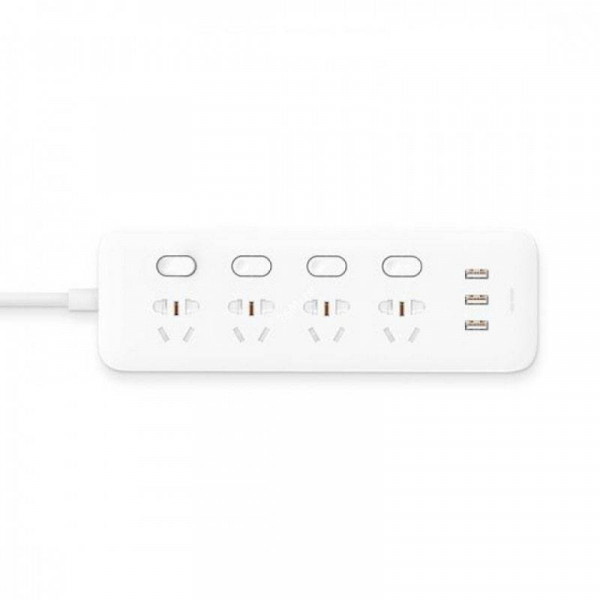 Удлинитель Xiaomi Mi Power Strip 4 розетки и 3 USB порта: характеристики