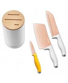 Набор титановых ножей Xiaomi Solista titanium-plated rose gold cutter set