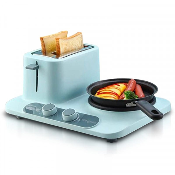 Тостер - плита Xiaomi Multifunctional Breakfast Machine Household Toaster Small Hot Pot Donlim DL-3405 (голубой): комплектация