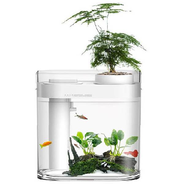 Акваферма с увлажнителем Xiaomi Descriptive Geometry Amphibious Ecological Lazy Fish Tank (белый)