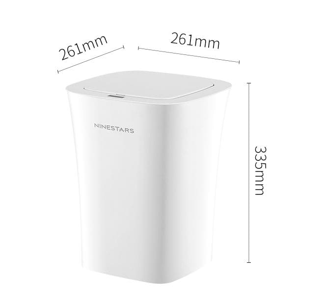 Мусорное ведро Xiaomi Ninestars Waterproof Tash Can 10L White (белый)